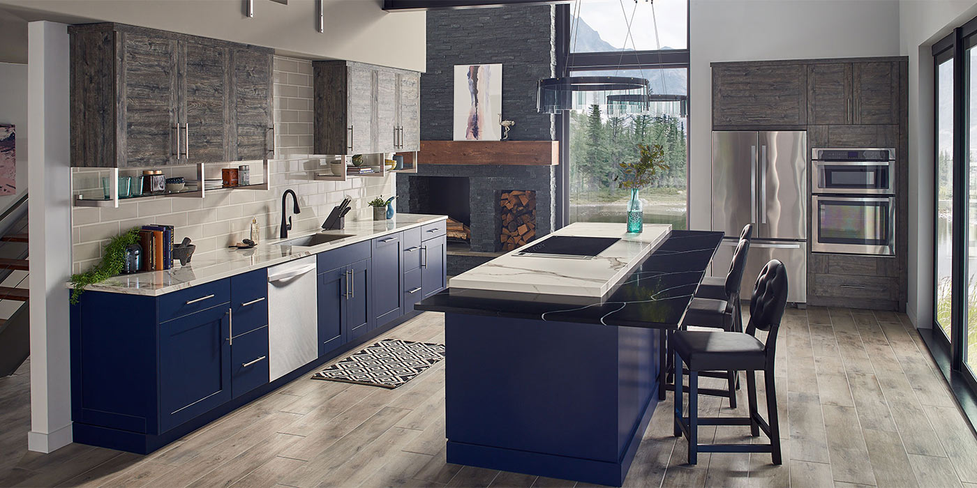 Modern kitchen showing flooring option in Rhode Island